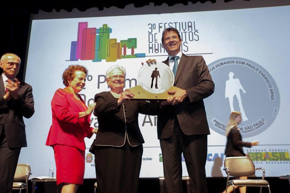 Discurso de agradecimento – Prêmio de Direitos Humanos Dom Paulo Evaristo Arns