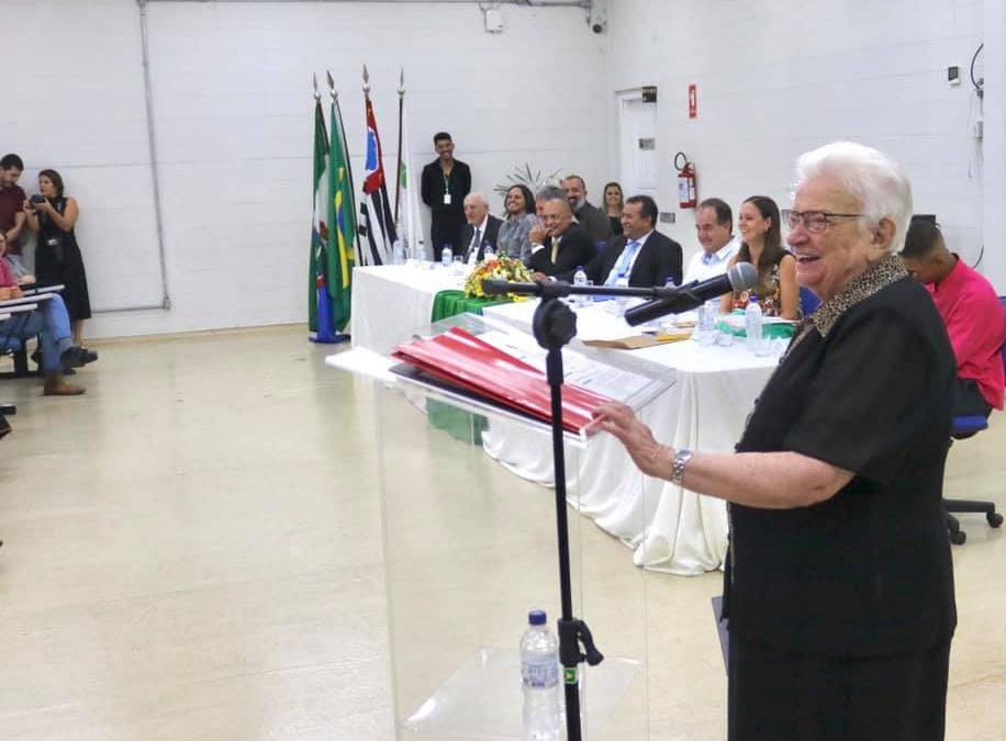 Luiza Erundina inaugura Biblioteca Linda Bimbi, no Instituto Federal de Avaré