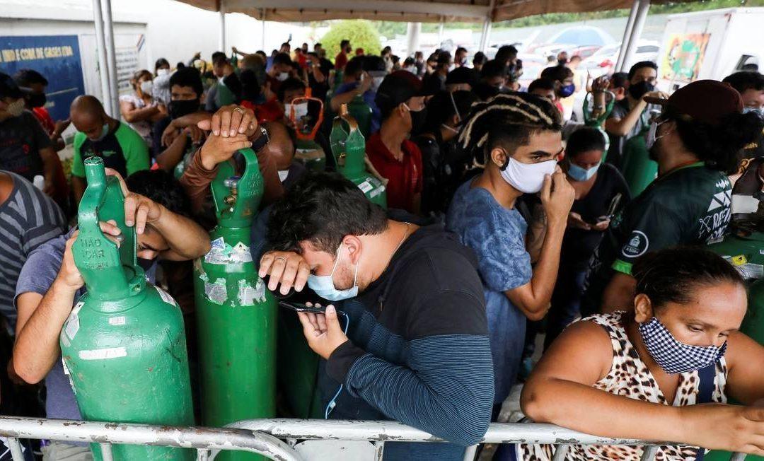 Caos em Manaus: falta de oxigênio mata brasileiros